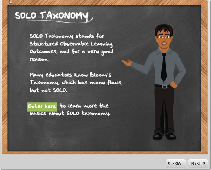solo taxonomy sarter